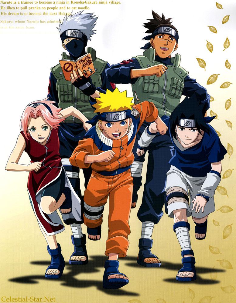 Naruto 2004 calendar image by Masashi Kishimoto